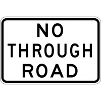 G9-18A - No Through Road Sign
