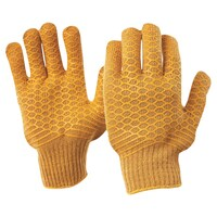 Brown Lattice Gloves Large