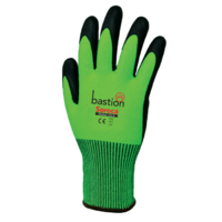 Bastion Soroca™ High Viz Green HPPE Gloves Black Micro Foam Nitrile Palm Coating - Cut Level 5