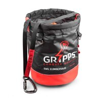 GRiPPS™ - Stop the Drops Lifting Bucket with 'Locking' Velcro Closure to ensure items will not be dropped and tool tethering, SWL 113KG