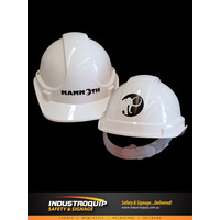 1 Colour Custom Printed Logo Hard Hats (Box of 20)