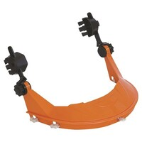 Hard Hat With Browguard Attachment Orange