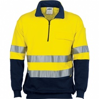 Hi-Vis Two Tone 1/2 Zip Cotton Fleecy Windcheater with 3M Reflective Tape