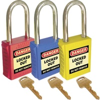 Bastion Lockout Isolation Safety Padlock - Black