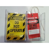Safety Tag Holder - Double