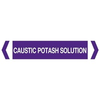 Caustic Potash Solution Pipe Marker