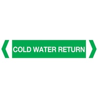 Cold Water Return Pipe Marker (Pack Of 10)