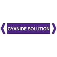 Cyanide Solution Pipe Marker (Pack Of 10)
