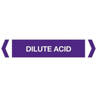 Dilute Acid Pipe Marker (Pack OF 10)