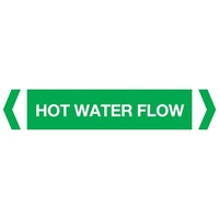Hot Water Flow Pipe Marker (Pack Of 10)