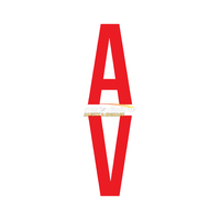 AV Vertical Marker Stickers Red on White (Pack of 10)