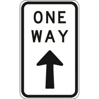 R2-17A One Way Only- Class 1 Reflective - 450mm x 800mm