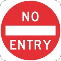 R2-4 No Entry- Class 1 Reflective - 600mm x 600mm