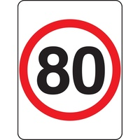 R4-1A_80 Speed Limit Sign 80KPH- Class 1 Reflective