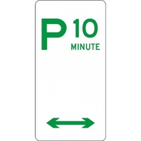 R5-14_D Multi-Directional 10 Minute Parking Sign- Class 1 Reflective - 225mm x 450mm