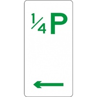 R5-15-Left Left Arrow 15 Minute Parking Sign- Class 1 Reflective - 225mm x 450mm