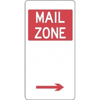 R5-26_Right Right Arrow Mail Zone Sign- Class 1 Reflective  - 225mm x 450mm