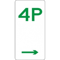 R5-4_Right Right Arrow 4P Parking Sign- Class 1 Reflective - 225mm x 450mm