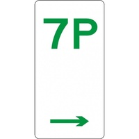 R5-7_Right Right Arrow 7P Parking Sign- Class 1 Reflective - 225mm x 450mm