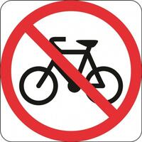 R6-10-3 Bicycles Prohibited Sign- Class 1 Reflective