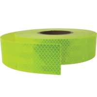 Reflective Class 1 Tape - Fluoro Lime / Yellow - 100mm