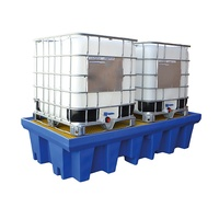 SpillSupport™ Double IBC Bunded Pallet to suit 2 x 1000L IBS's - Capacity 1300L
