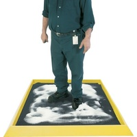 MatTEK®Boot Dip Mat - Heavy Duty with Safety Yellow Border Size: 980 x 810 x 47mm