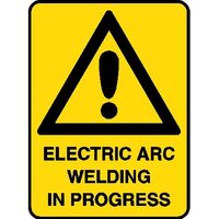 Hazard Sign - Electric Arc Welding in Progress