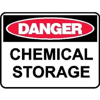 Danger Sign - Chemical Storage - 600 x 450mm