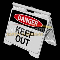 Danger Keep Out - Heavy Duty A Frame Sign