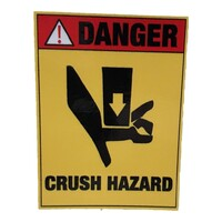 Crush Hazard Stickers - Pack of 10