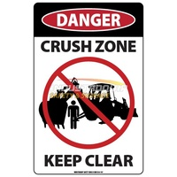 Backhoe Crush Zone (Left) Sticker