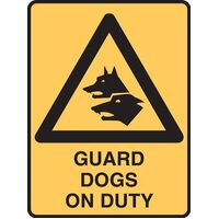 Guard Dog Warning Sign