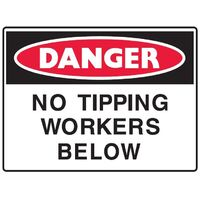 No Tipping Workers Below Sign