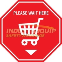 Shopping Trolley Social Distancing Floor Marker Decals (5 Pack)
