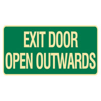 Luminous Exit Door Opens Outwards Sign