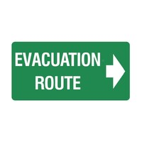 Luminous Evacuation Route Arrow Right Sign