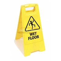 Plastic Floor Safety Sign - Wet Floor