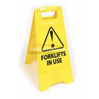 Forklifts in Use Floor Sign