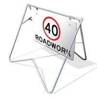 Swing Stand & Sign - 40km/h Speed Limit Roadwork - 1200 x 900mm