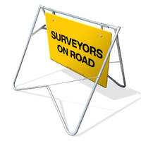 Swing Stand & Sign - Surveyors On Road - 900 x 600mm