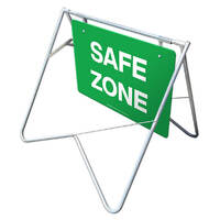 Swing Stand & Sign - Safe Zone - 900 x 600mm