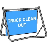 Swing Stand & Sign - Truck Clean Out - 900 x 600mm