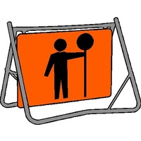 Swing Stand & Sign - Traffic Controller (Diamond Grade)