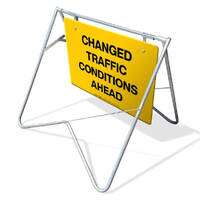 Swing Stand & Sign - Changed Traffic Conditions Ahead - 900 x 600mm