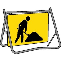 Swing Stand & Sign - Worker Symbol