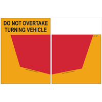 Rear Marker Plates S/A Do Not Overtake Turning Vehicle Sign