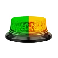 Green / Amber LED Strobe Beacon - LED Dual Colour Safety Beacon Heavy Duty for Plant Machinery