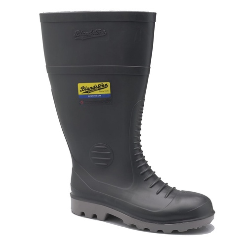 Blundstone® Steel Safety Cap Gumboots - Grey PVC / Nitrile - 5