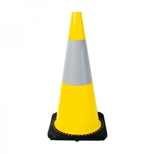 700mm Yellow Reflective Heavy Duty Traffic Cones